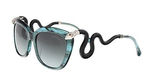 Roberto Cavalli RC1038 89P CASTELNUOVO Teal Square - Sunglasses Snake Roberto Cavalli