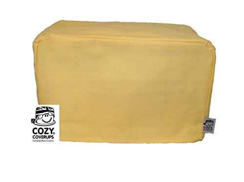 CozyCoverUp for Dualit Toasters 100% cotton Handmade in the UK (Yellow, 4 Slice Clasic New Gen)