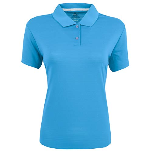 (adidas Golf Womens Climalite Textured Short-Sleeve Polo (A162) -Coast -2XL)