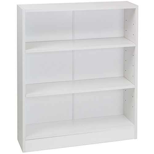Hartleys White 3 Tier Bookcase