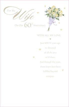 Amazon wife 60th anniversary diamond anniversary greetings wife 60th anniversary diamond anniversary greetings card m4hsunfo