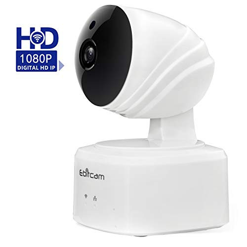 HD IP Camera, Wireless Security Camera IP Surveillance Camera Two-Way Audio, 1080P 2.4GHz Home Security Camera Night Vision Alert Pet Baby Monitor iOS,Android App,Alexa – Cloud Service