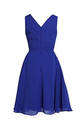 MYPROM Women's Straps Short Chiffon Bridesmaid Dress Party Dress