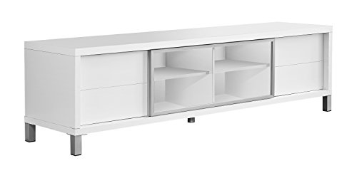 Monarch Specialties I 2537, TV Console, Euro Style, White, 70