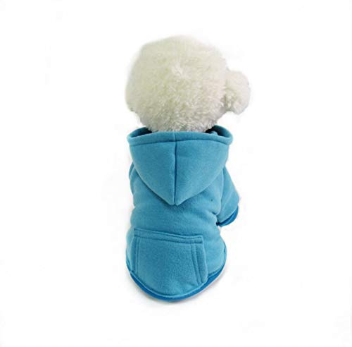 QCHOMEE Dog Hoodie Costume Outfits Sweater Dog Winter Coat Clothes Puppy Warm Sweatshirt Winter Jacket Dog Apparel for…