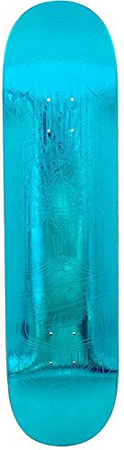 Primitive Peacock Teal Foil Skateboard Deck Sz 8in