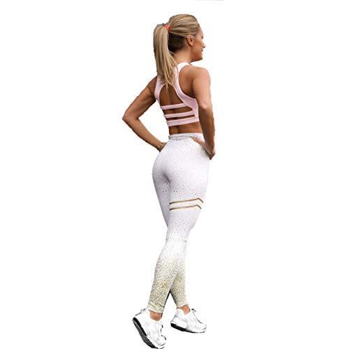 f06a7348d2f3 Nuevo!! Mallas Deportivas Mujer Leggins Yoga Pantalon Elastico Cintura  Altura Polainas para Running Pilates Fitness