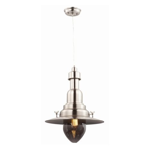 Maxim 25113CLBZ Hi-Bay 1-Light Pendant, Bronze Finish, Clear Glass, MB Incandescent Bulb , 100W Max., Damp Safety Rating, 2700K Color Temp, Standard Dimmable, Glass Shade Material, 3450 Rated Lumens by Maxim Lighting (Image #1)