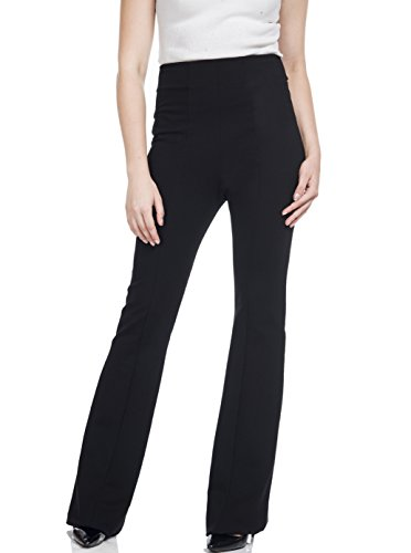 Soshow Women Ultra Stretch Pull on Pants Ladies Bootleg Rayon Yoga (Pull On Knit Pants)