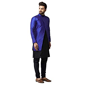 Benstoke mens silk blend kurta pajama ethnic jacket set