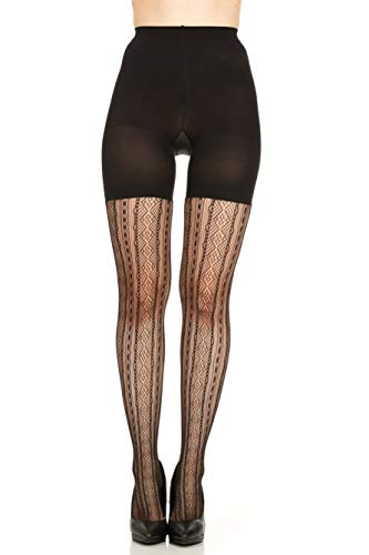 - SPANX Control Top Shaping Tights Patterned Diamond Stripe - 2062 (C)