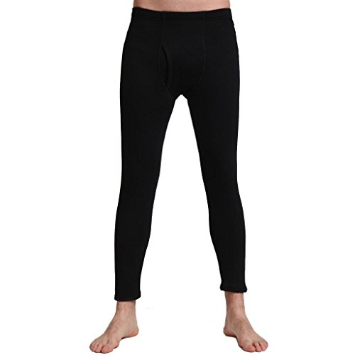 Liang Rou Men's Fleece Lined Thick Thermal Pant Black US Small(XL)
