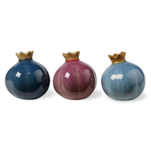 (tag Perennial Bud Stoneware Vases in Blue Red and Aqua Set of 3)