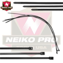 Neiko Tools USA 11'' Black Cable Ties 500 / pack