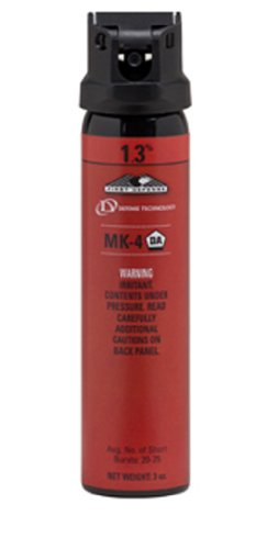 Defense Technology First Defense OC Cone MK 4 1.3% Solution Red Band Pepper Spray (3.0 Ounce)