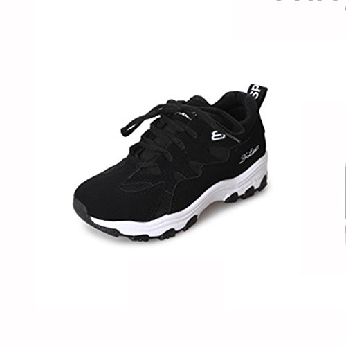 Version Sports Korean Thick UK5 Shoes Black Student Shoes Size cozy 5 Black Shoes Casual Bottom Color Female LVZAIXI CN38 shoes EU38 Fashion qEpxwtft