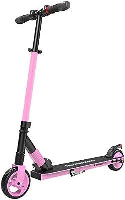 M MEGAWHEELS Scooter electrico, Patinete electrico es Ajustable la Altura para los Adolescentes y los Adultos.(Pink)