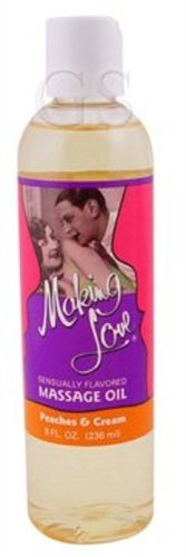 Making Love Massage Oil (Making Love Massage Oil, Peaches and Cream, 8 Ounce by Making Love)