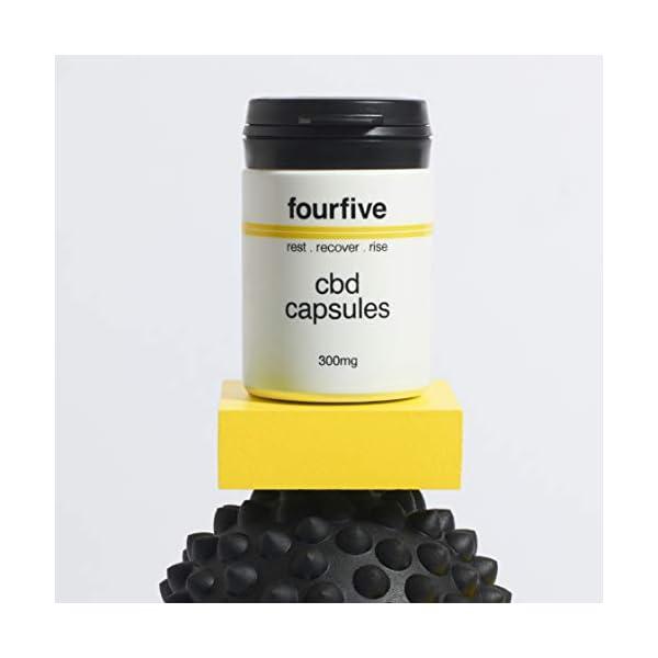 fourfive 600mg CBD Oil Capsules High Strength, 60 x 10mg Capsules