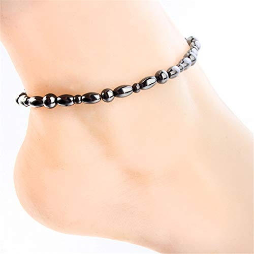 HELLOYOUNG Magnetic Anklet Bracelet Black Gallstone Acupoints Fat Burning Health Care Other (Wellness & Relaxation)
