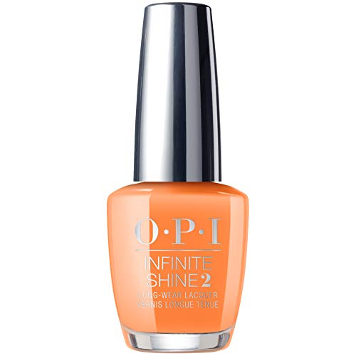 Halloween Nail Polish Ideas (OPI Summer 2019 Neon Collection, Infinite Shine Long-Wear Nail Polish, Orange You A Rock Star?, 0.5 Fl.)
