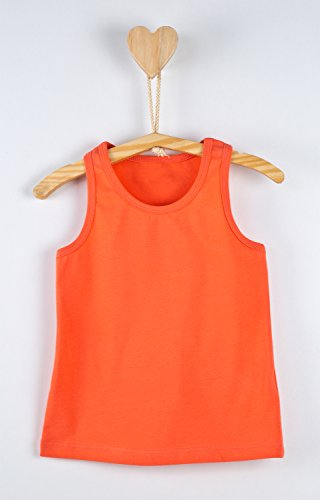 Red Clementine Big Girls Everyday Wide Strap Tank Top 10//12//Medium