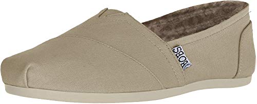 BOBS from Skechers Women's Plush Peace and Love Flat,Taupe,10 M US (Best Casual Shoes To Wear With Skinny Jeans)
