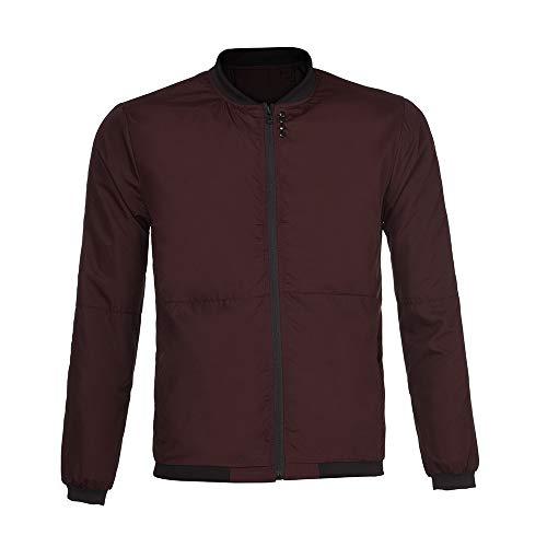 Union Snowboard Pants (Toimothcn Mens Solid Slim Fit Zipper Jacket Autumn Winter Lightweight Stand Collar Jackets Coats(Red,XXXL))