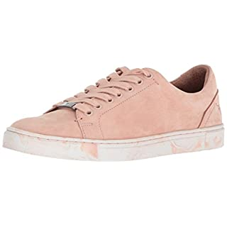 Frye Women's Ivy Low LACE Sneaker, Blush Marbled Outsole, 9.5 M US