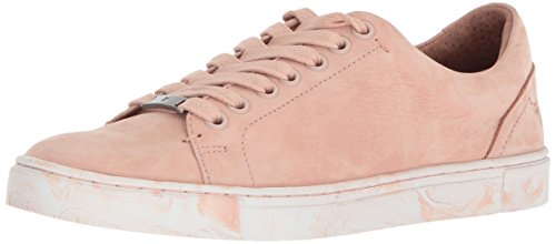 FRYE Women's IVY Low Lace Sneaker, Blush, 8.5 M US