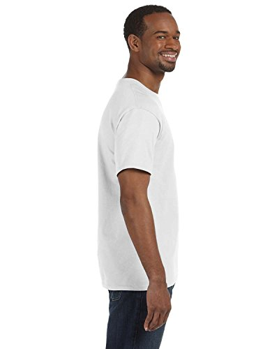 Para Heavy Größe Cotton Básica Manga Modelo Hombre De Camiseta Algodón Weiß 100 Xxxxl Gildan Corta Gordo wTxa8n1
