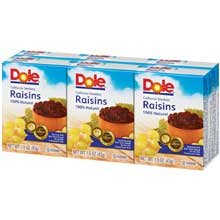 Raisin Seedless, 1.5 Ounce - 144 per Case