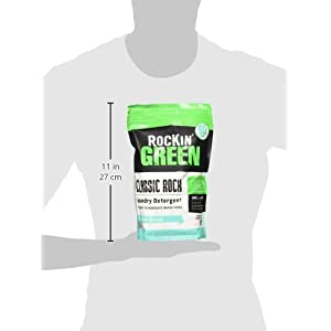 Rockin' Green Natural HE Powder Laundry Detergent for Hard Water, Perfect for Cloth Diapers, 90 Loads, AC/DSea Breeze, 45 oz