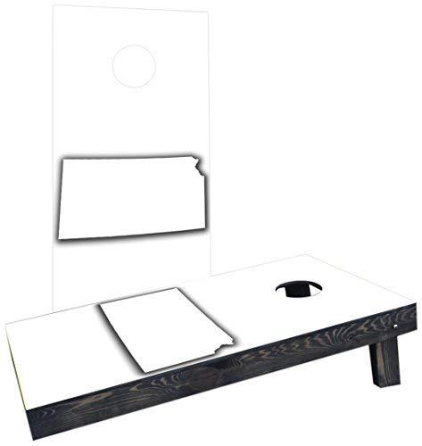 楽天 Custom Cornhole Boards Boards Incorporated B07HLG5G5J CCB709-C White Kansas Theme Theme Cornhole Boards [並行輸入品] B07HLG5G5J, お宝ワールド:acc0d1e1 --- arianechie.dominiotemporario.com