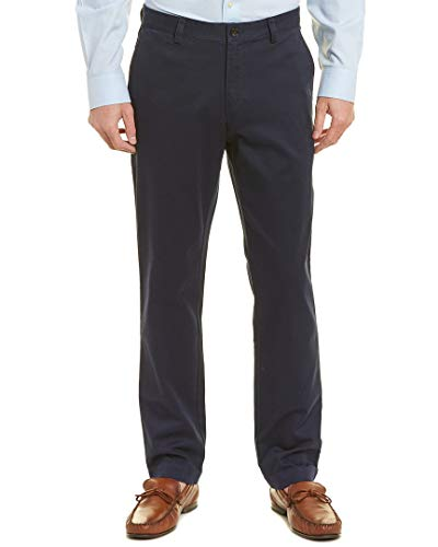 Brooks Brothers Mens Brushed Twill Pant, 38/34, Blue