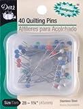 Bulk Buy: Dritz Quilting Pins Size 28 40/Pkg 32 (6-Pack)