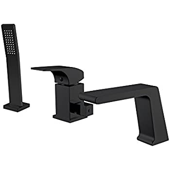 Jiayoujia Contemporary Deck Mounted Waterfall Black Roman