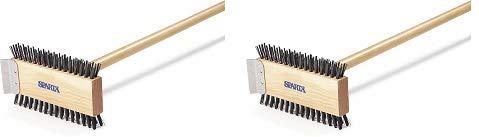 Carlisle 4002600 Broiler Master Grill Brush, Carbon Steel Bristles, 30.5'' Length, Hardwood Brush and Handle, Natural (2-(Pack))