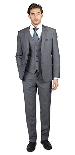 Alain Dupetit Men's THREE Piece TR Blend Suit in Many Colors