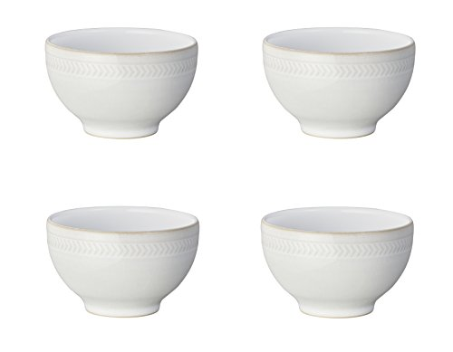 Denby Natural Canvas Chevron Small Bowl, Set of 4 by Denby