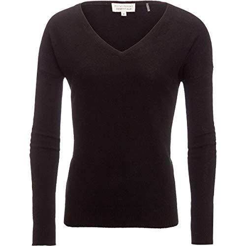 White + Warren Essential V-Neck Sweater - Women's Black, M