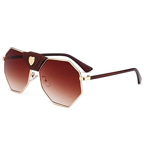 Gafas de amor moda sol C cuero gafas sol irregulares personalidad de de NIFG hebilla ZdWacZ