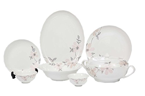 Sivica Premium Bone-china Dinner set (Set of 35) MOD551
