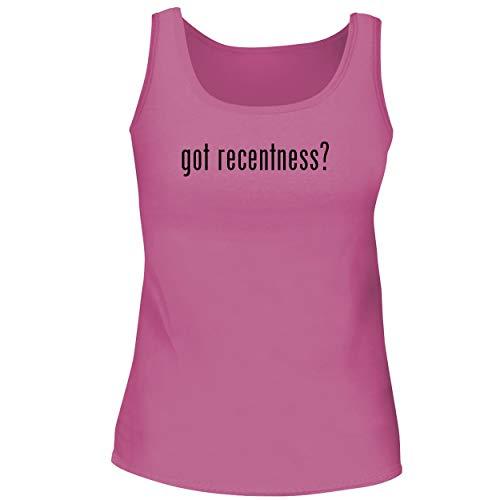 BH Cool Designs got Recentness? - Cute Women's Graphic Tank Top, Pink, X-Large
