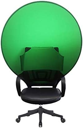 Primesale.us Pop Up Screen with Bag Chair Strap for Zoom/Skype/Web Calls Collapsible Circular 125x125 cm Green