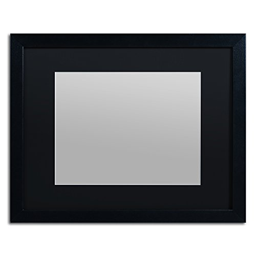 16x20 Photo Framed (Trademark Fine Art Heavy Duty 16x20 Black Picture Frame with 11x14 Black Mat)