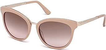 توم فورد نظارات شمسية للنساء، لون العدسة بني، FT0461