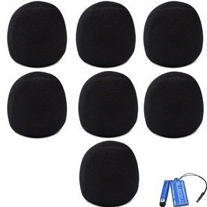Bluecell Black Color 7 Pack of Microphone Windscreen Foam Cover