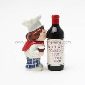 PG Trading 8349 4 in. Wine Chef Salt and Pepper Shakers