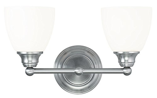 Livex Lighting 13662-91 Somerville 2-Light Bath Light, Brushed Nickel